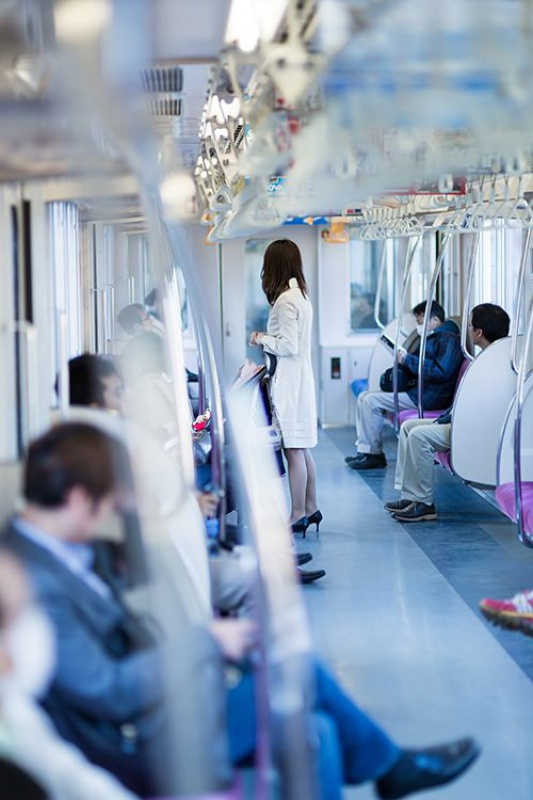 電車内の風景