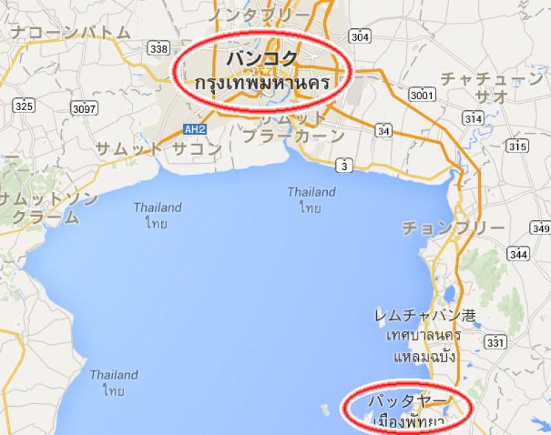 タイのマップ