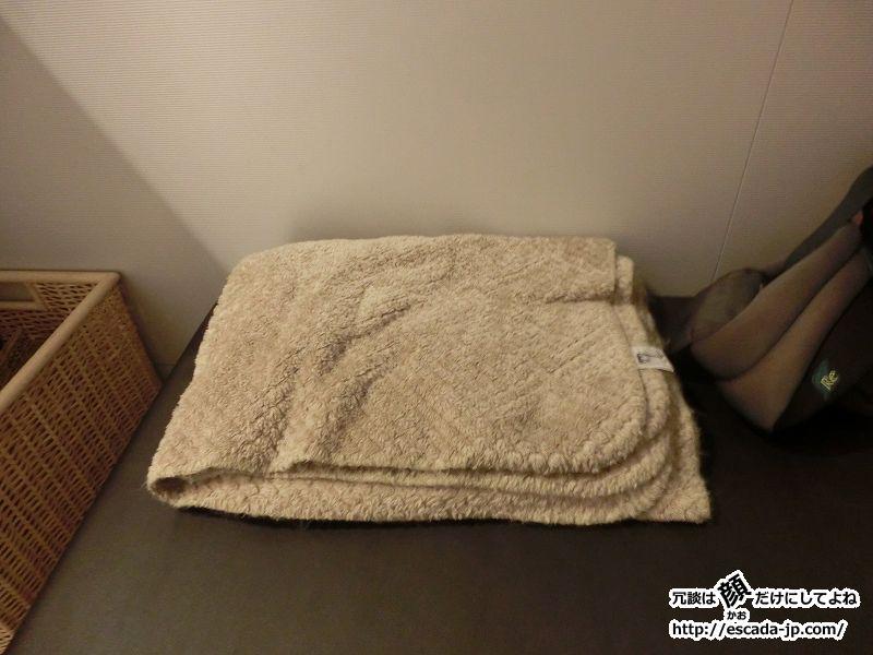 貸し出しの毛布