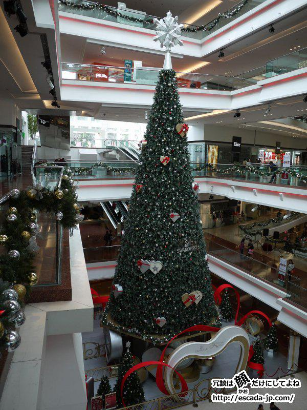 2012年香港フェスティバルウォークのクリスマスツリー