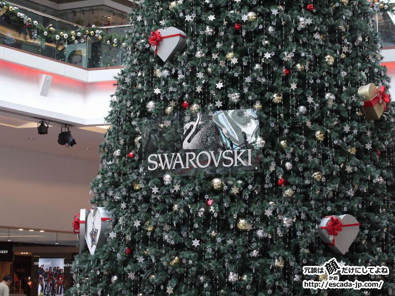 SWAROVSKIのクリスマスツリー